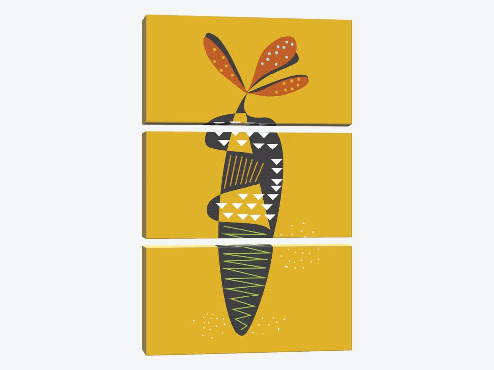 Carrot 3-piece Canvas Wall Art