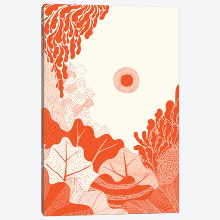 Foliage In Red Canvas Print #OWL181} by Flatowl Canvas Print