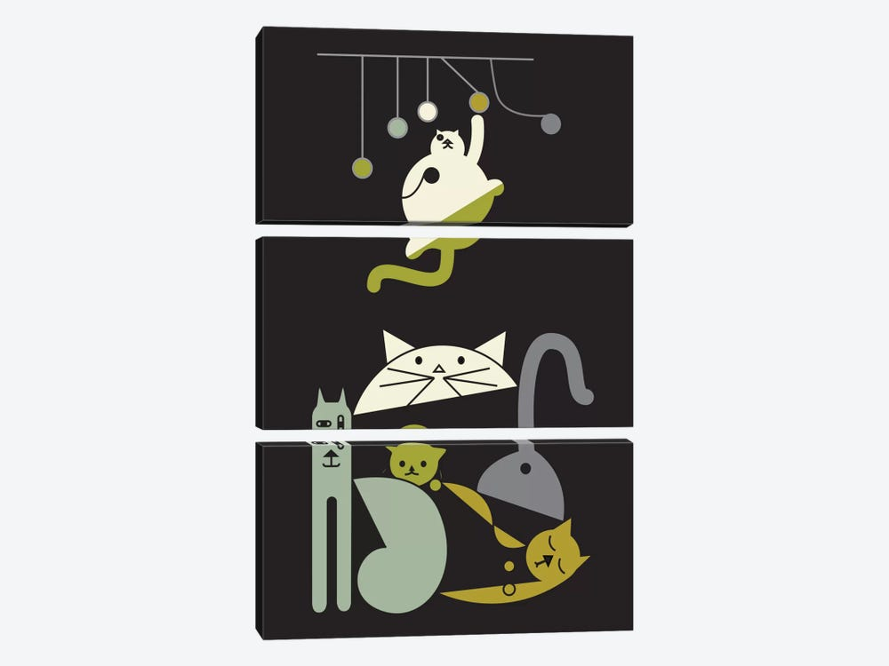 Cats by Flatowl 3-piece Art Print