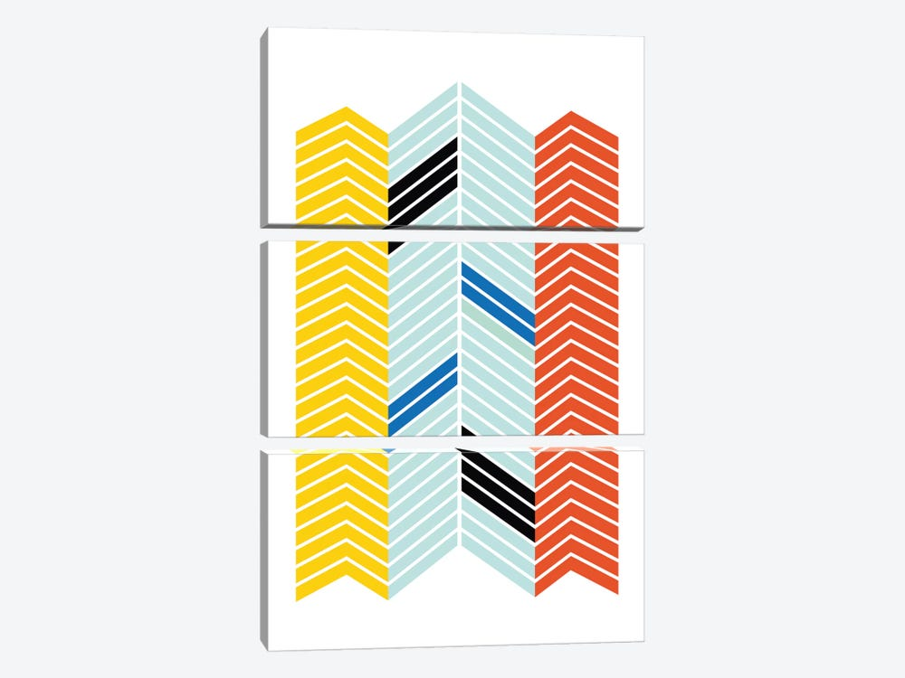 Chevron by Flatowl 3-piece Canvas Artwork