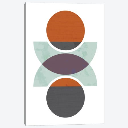 Circles Reflected (Orange) Canvas Print #OWL21} by Flatowl Canvas Wall Art