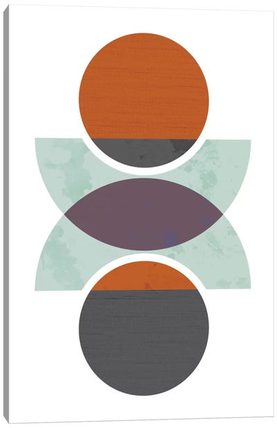 Circles Reflected (Orange) Canvas Print #OWL21