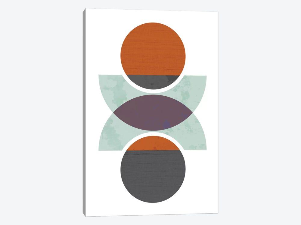 Circles Reflected (Orange) by Flatowl 1-piece Art Print