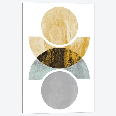 Circles Reflected (Yellow) Canvas Print #OWL22} by Flatowl Canvas Artwork