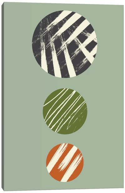 Circles With Texture Canvas Art Print