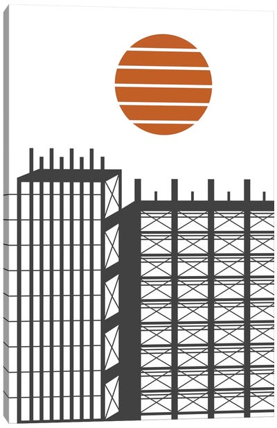 City In Construction Canvas Print #OWL25