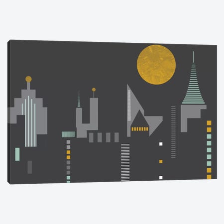 Cityscape Canvas Print #OWL26} by Flatowl Art Print