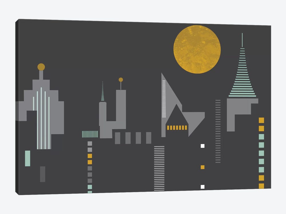 Cityscape by Flatowl 1-piece Canvas Wall Art