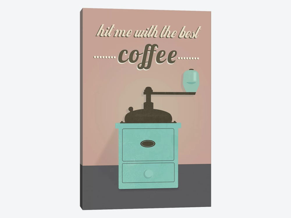 Coffee by Flatowl 1-piece Canvas Wall Art