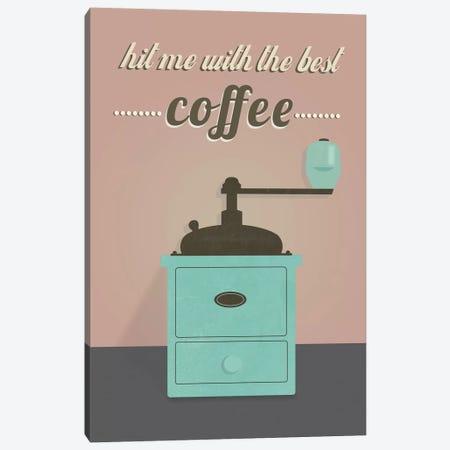 Coffee Canvas Print #OWL28} by Flatowl Canvas Art