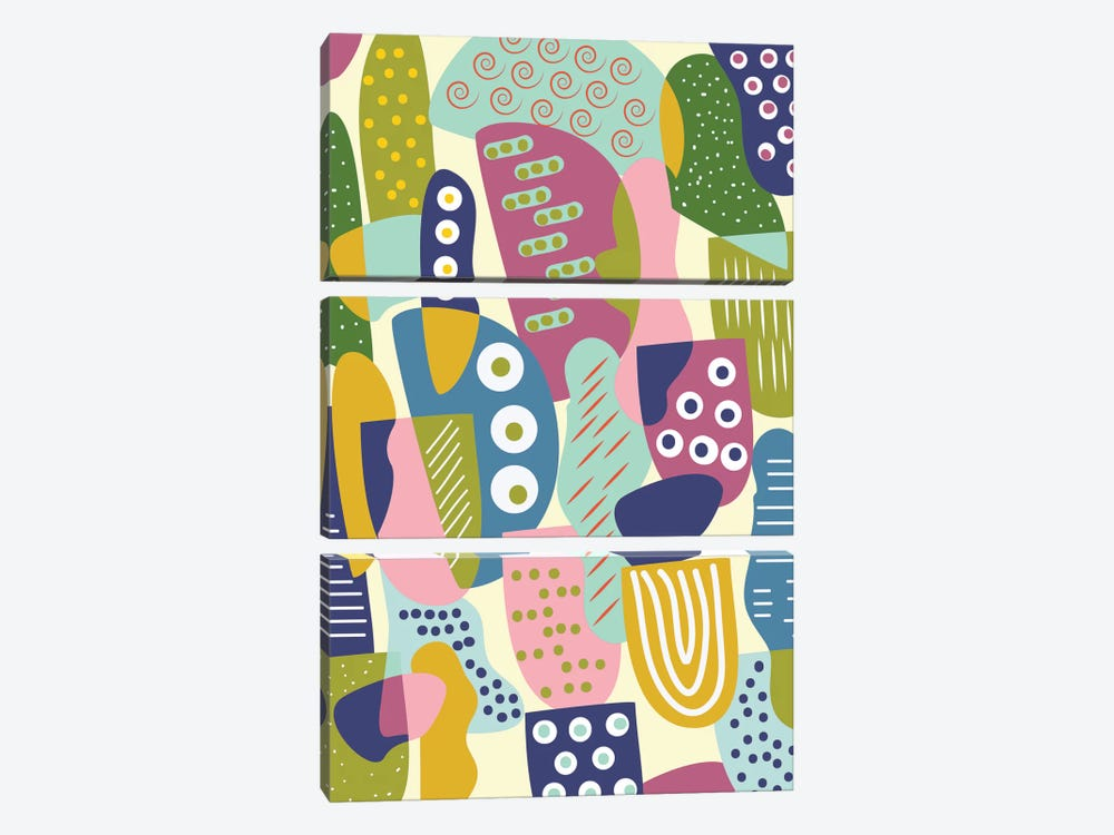 Colorful Shapes by Flatowl 3-piece Art Print