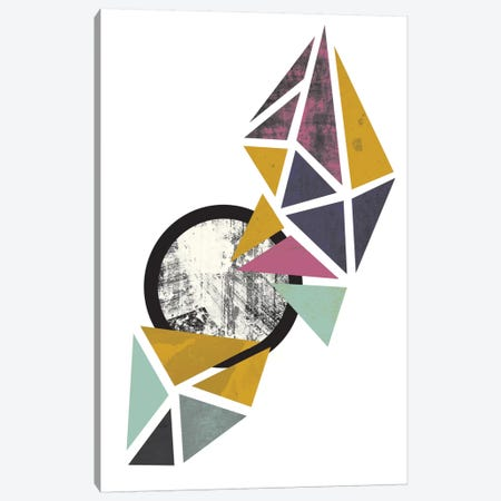 Colouful Triangles Canvas Print #OWL30} by Flatowl Canvas Art Print