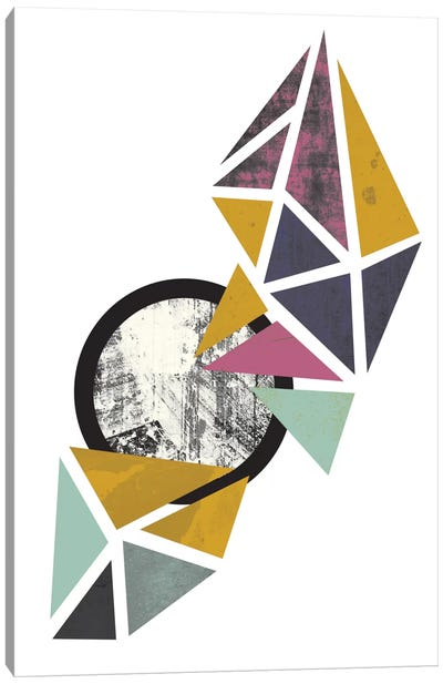 Colouful Triangles Canvas Print #OWL30
