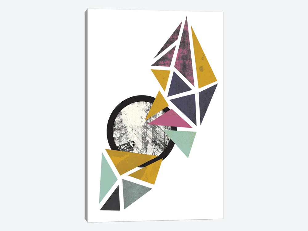 Colouful Triangles by Flatowl 1-piece Art Print