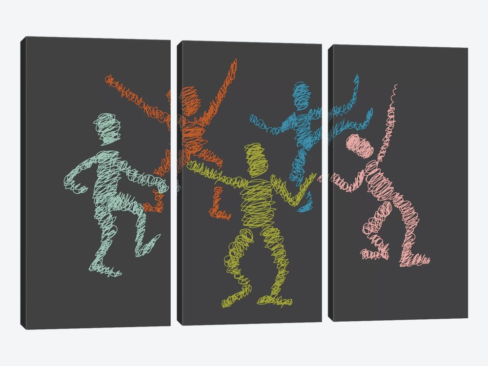 Dance Fever by Flatowl 3-piece Canvas Art