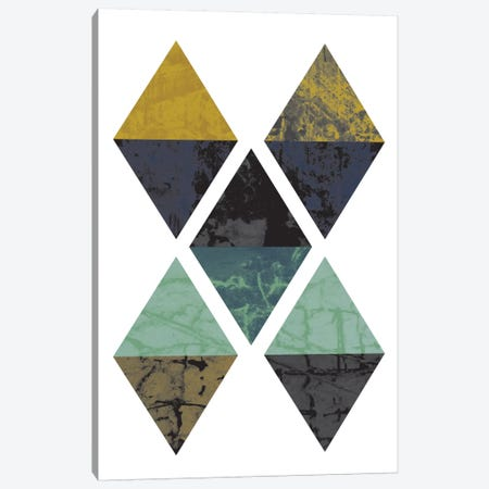 Diamonds Grunge Canvas Print #OWL34} by Flatowl Canvas Art