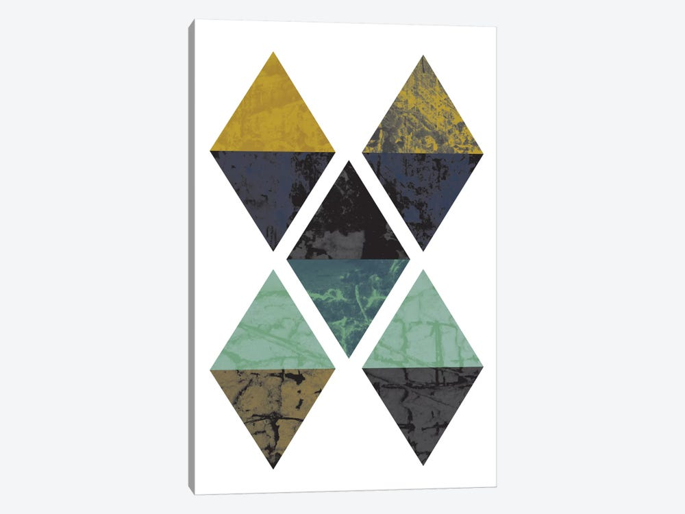Diamonds Grunge by Flatowl 1-piece Art Print