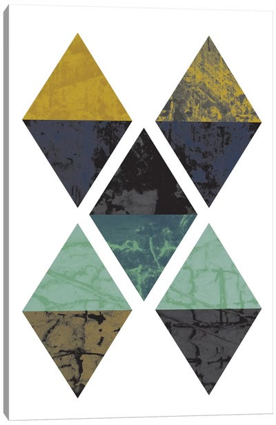 Diamonds Grunge Canvas Art Print