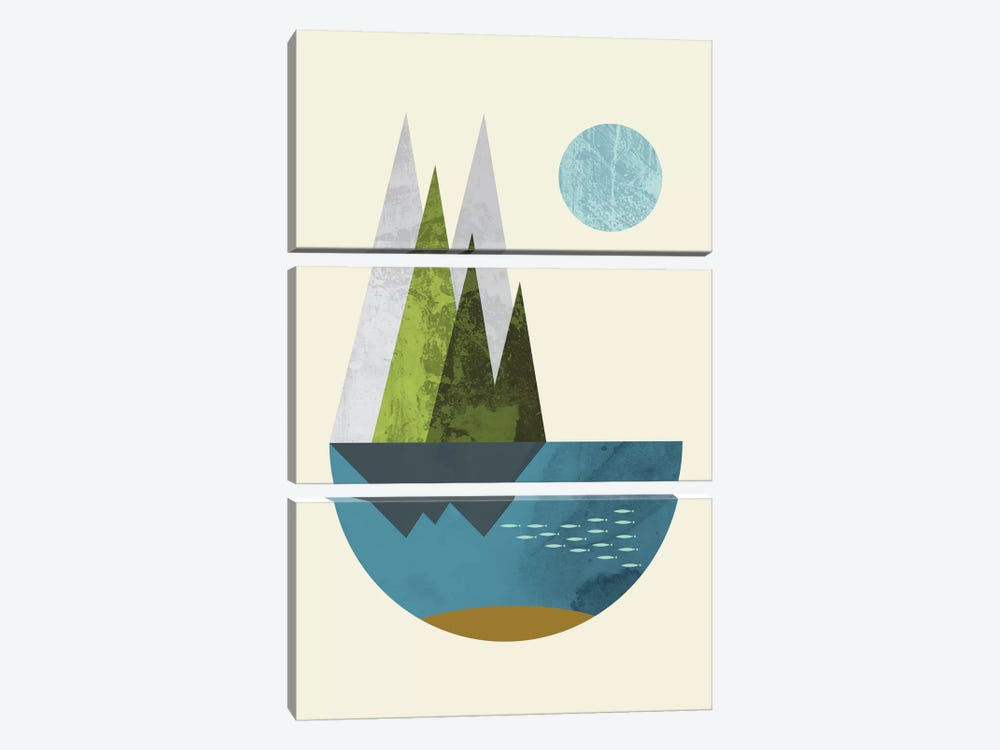 Earth by Flatowl 3-piece Art Print