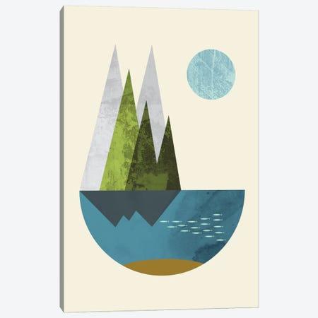 Earth Canvas Print #OWL36} by Flatowl Canvas Artwork