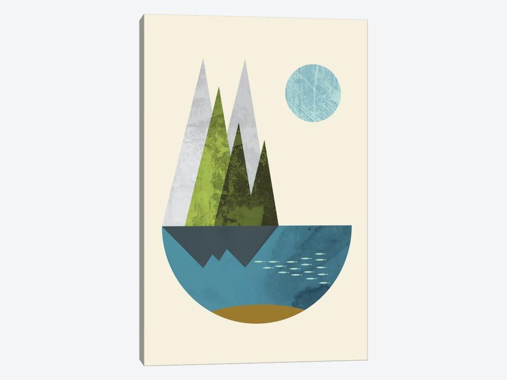 Earth by Flatowl 1-piece Canvas Art Print