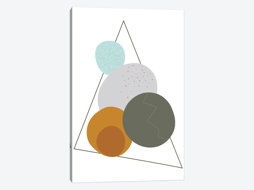 Eggs In A Triangle by Flatowl 1-piece Art Print