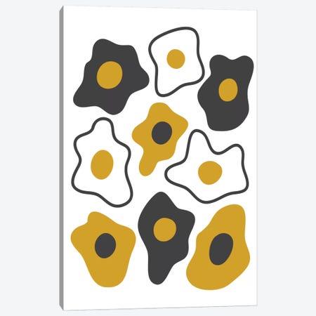 Fried Eggs Canvas Print #OWL44} by Flatowl Canvas Art Print