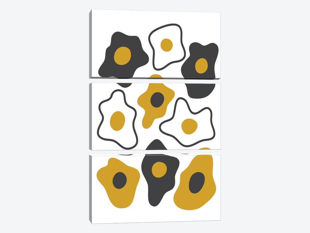 Fried Eggs by Flatowl 3-piece Canvas Artwork