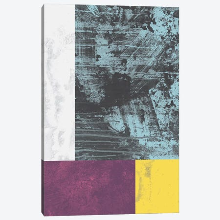 Geometric Grunge I Canvas Print #OWL46} by Flatowl Art Print