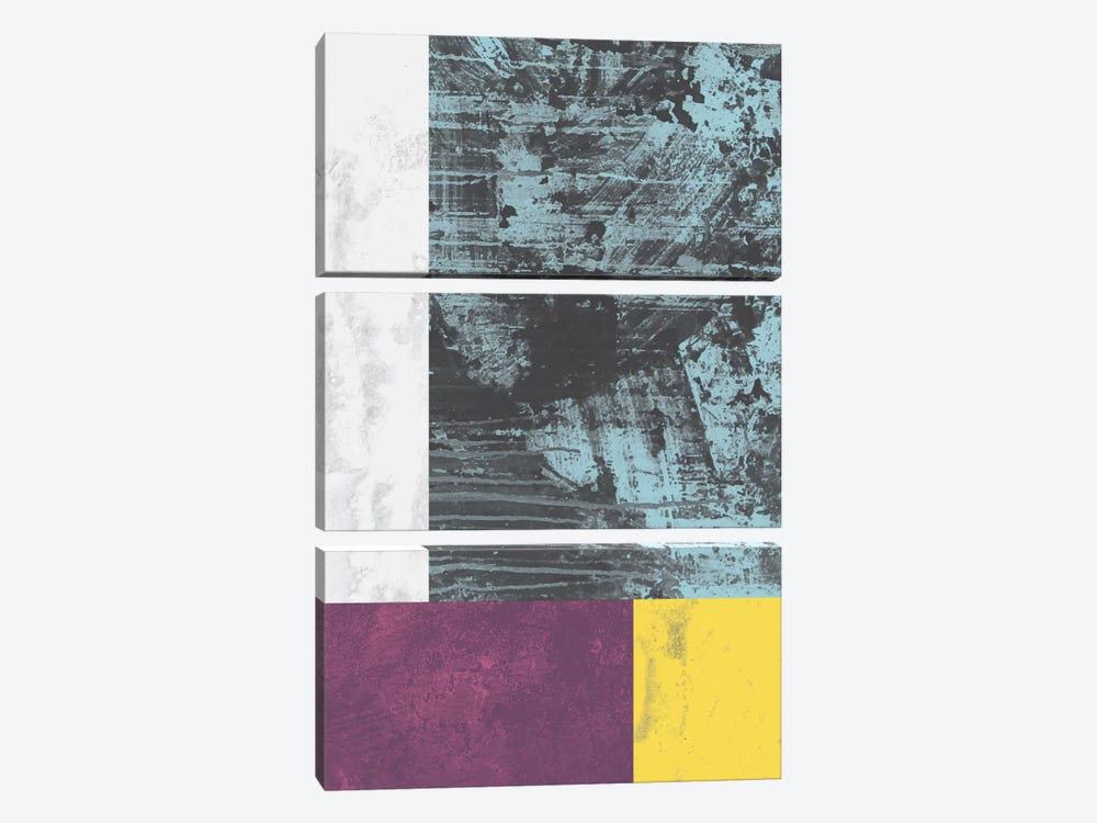 Geometric Grunge I 3-piece Canvas Art