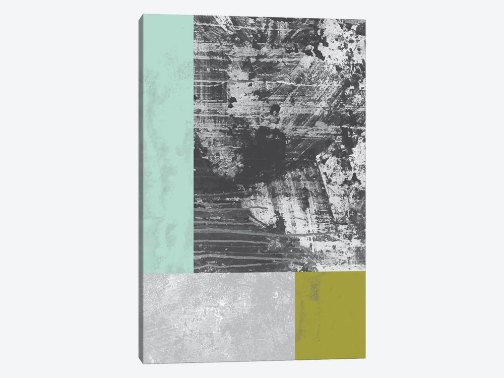 Geometric Grunge II by Flatowl 1-piece Canvas Art Print