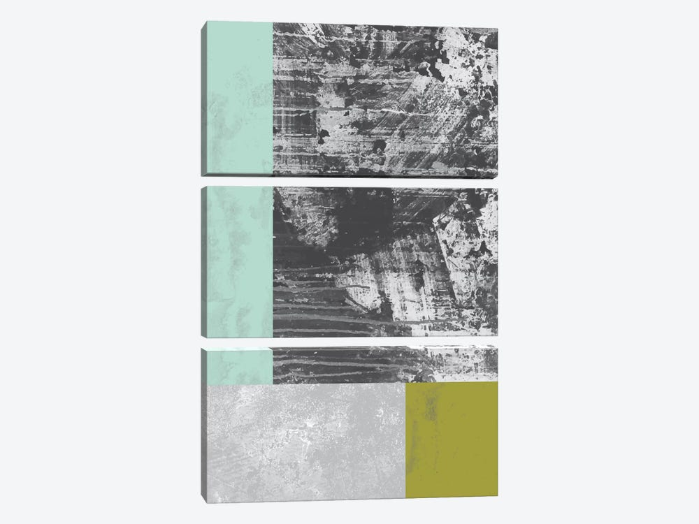 Geometric Grunge II by Flatowl 3-piece Canvas Art Print