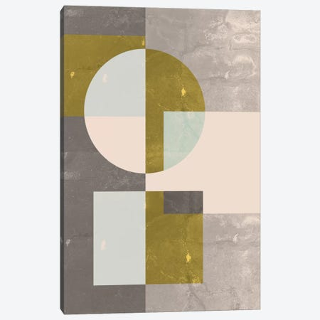 Geometric I Canvas Print #OWL48} by Flatowl Canvas Wall Art