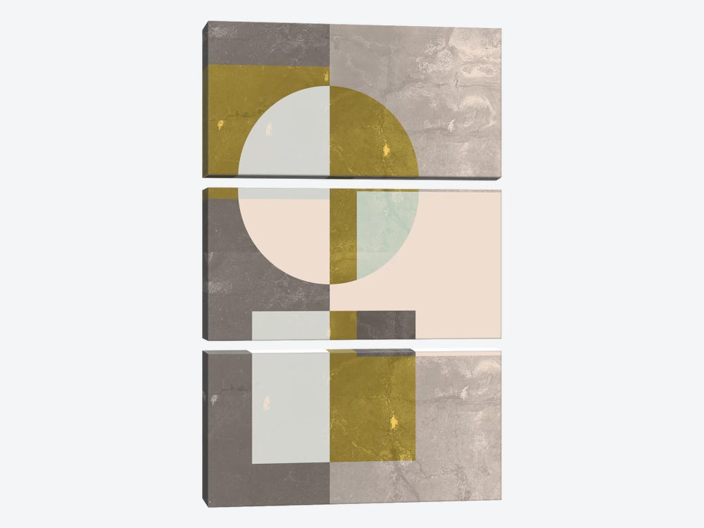 Geometric I by Flatowl 3-piece Canvas Artwork
