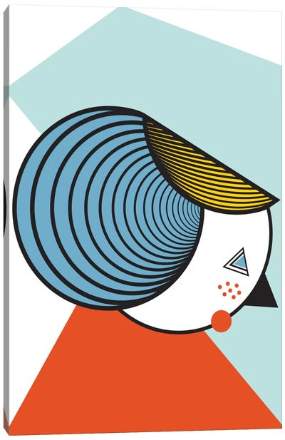 Geometric Lady Canvas Art Print
