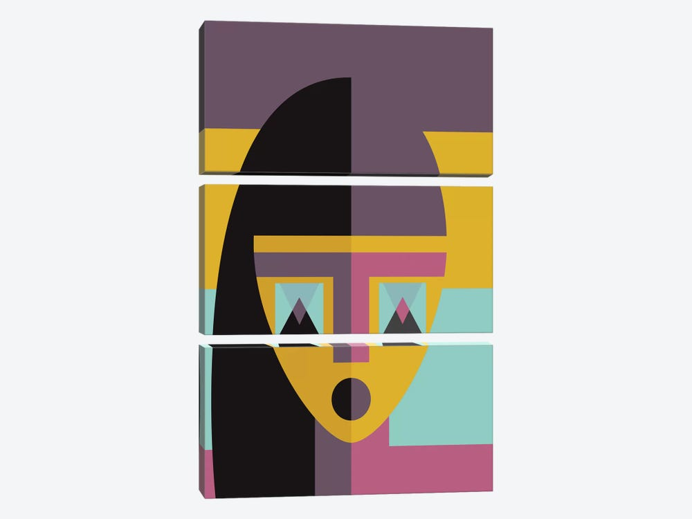Geometric Model by Flatowl 3-piece Canvas Art