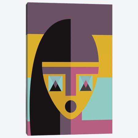 Geometric Model 3-Piece Canvas #OWL51} by Flatowl Canvas Art Print