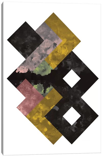 Geometric Watercolor Canvas Print #OWL52