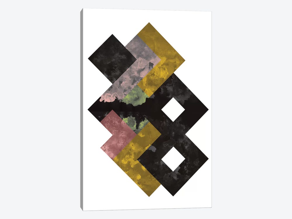 Geometric Watercolor by Flatowl 1-piece Art Print