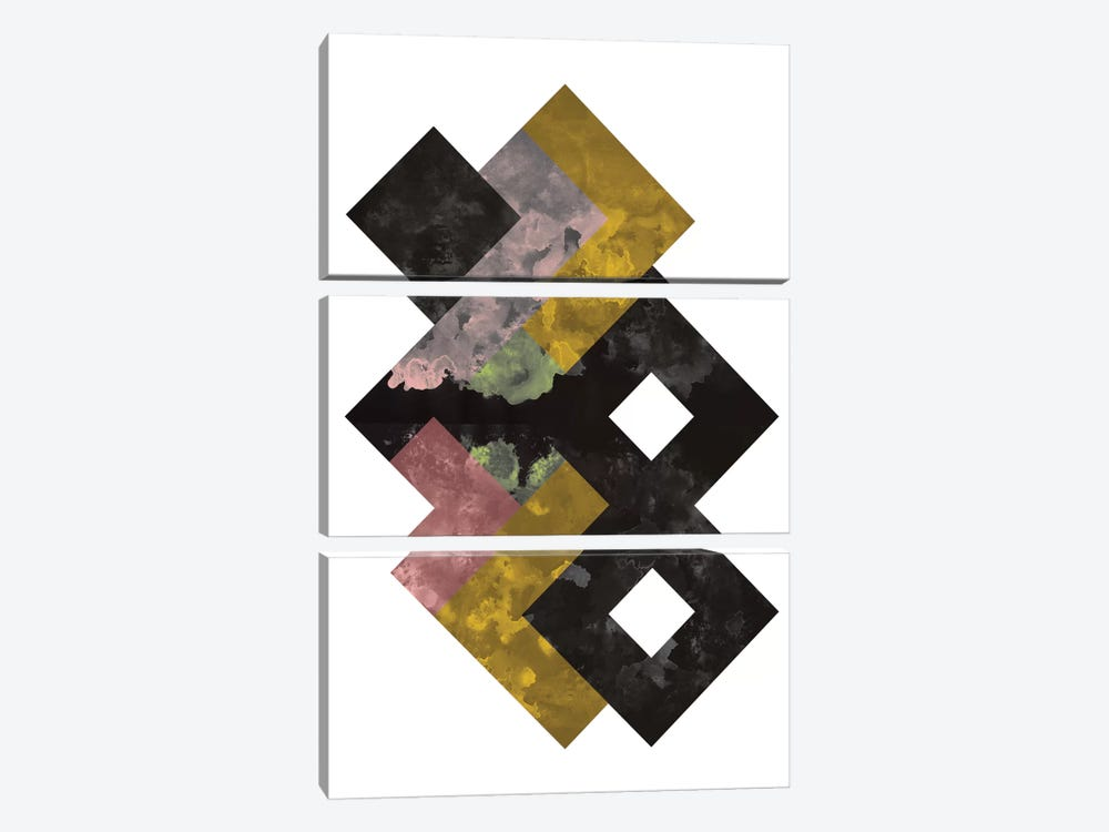 Geometric Watercolor by Flatowl 3-piece Canvas Print