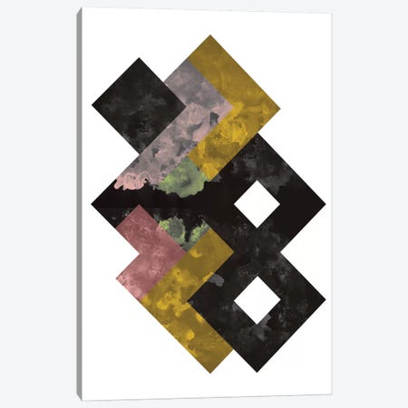 Geometric Watercolor Canvas Print #OWL52} by Flatowl Art Print