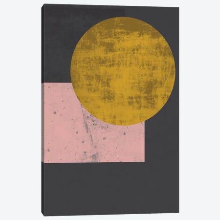 Gold Moon Canvas Print #OWL54} by Flatowl Canvas Art
