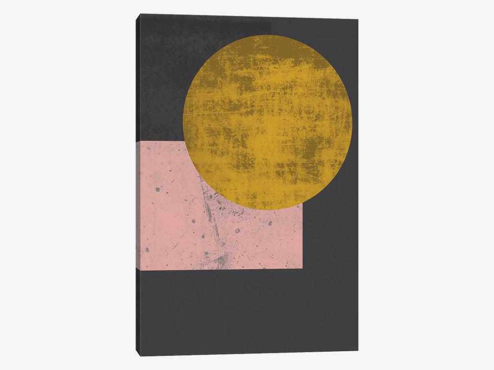 Gold Moon by Flatowl 1-piece Canvas Print