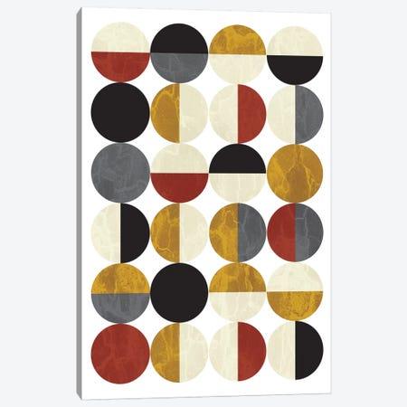 Half Circles Canvas Print #OWL56} by Flatowl Canvas Art