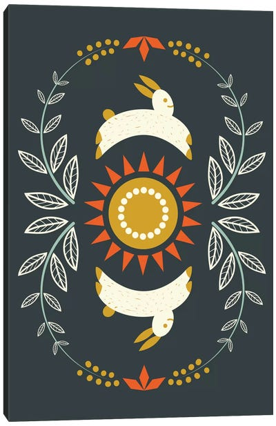 Happy Bunnies Canvas Print #OWL57