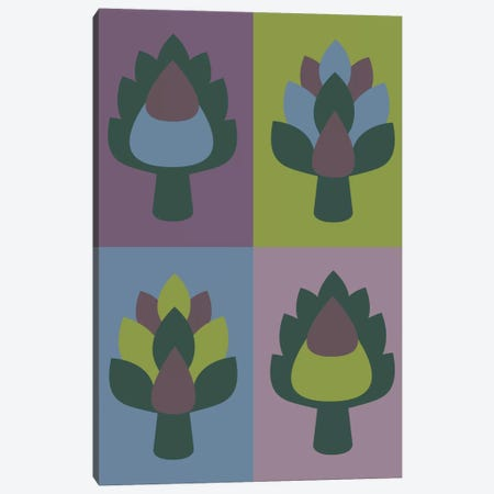 Artichoke Canvas Print #OWL5} by Flatowl Canvas Print
