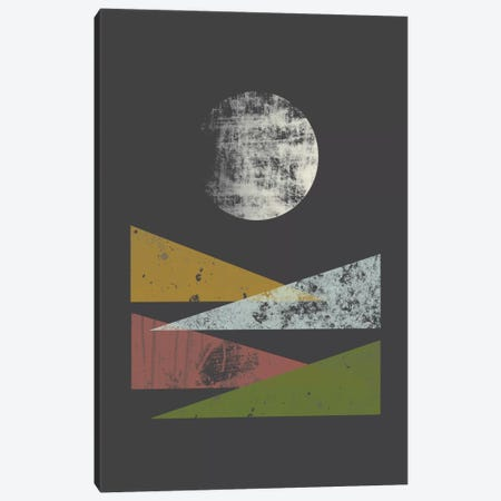 Hills At Night Canvas Print #OWL60} by Flatowl Canvas Artwork