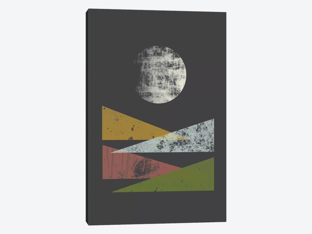 Hills At Night by Flatowl 1-piece Canvas Art