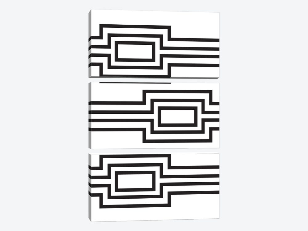 Horizontal Lines by Flatowl 3-piece Canvas Print