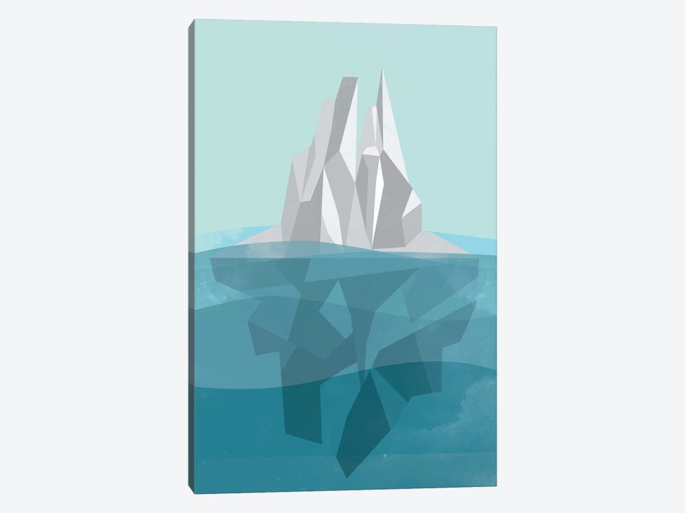 Iceberg by Flatowl 1-piece Canvas Wall Art